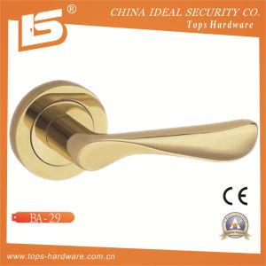 Brass Rosette Lock Door Handle-Ba29 pictures & photos