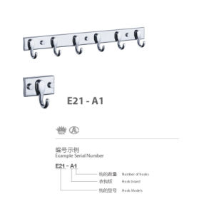 High Quality 304 Stainless Steel Simple Bathroom Hange (E21-A1) pictures & photos