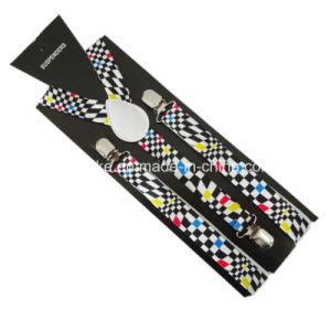 Unisex Fashion Print Y-Back Elastic Suspender 2.5*100cm (BD1009) pictures & photos