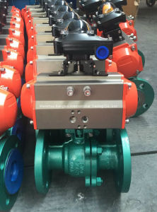 API Carbon Steel Pneumatic Floating Flange Ball Valve pictures & photos