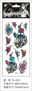 8.8*19cm Tiger Tattoo Stickers for Adult Ta23