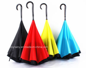 Sun Umbrella Outdoor New Inverted Car Umbrella with Double Layer Fabric