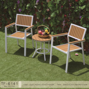 Garden Wooden Chair Patio Wooden Leisure Time Table Set pictures & photos