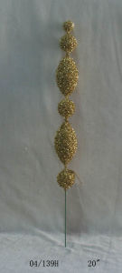 20′′ Golden Plastic Single Cuttings Twig for Christmas Decoration