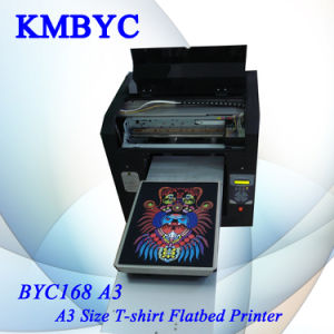 Dark Black Color T-Shirt Garments Digital Flatbed Printer (Byc168 pictures & photos