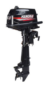 Water Cooling 6HP 2 Stroke Boat Outboard Motor Hangkai M6 pictures & photos