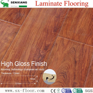 European Arc-Click Lock System High Gloss U-Groove Laminate Flooring