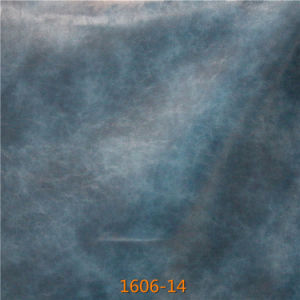 Suede Backing Fabric Imitation Leather for Hotel Project Furniture Decoration pictures & photos