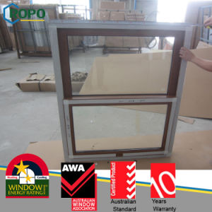 Woodgrain Color PVC Single Hung Window, Sliding Windows pictures & photos