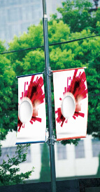 Outdoor Banner-New Street Flag Pole pictures & photos
