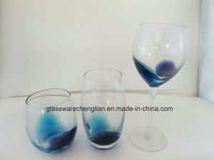Fancy Glass Cup with Solid Blue Color pictures & photos