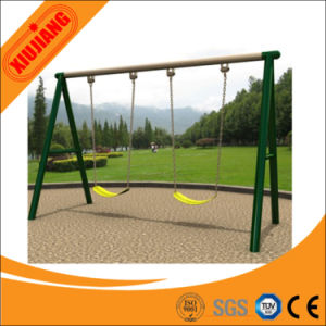 Ce Approved Kids Playground Swing Two Seat Iron Swing Sets pictures & photos