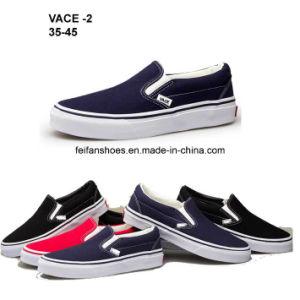 Hotsale Men Rubber Canvas Shoes Injection Casual Shoes (VACE02) pictures & photos