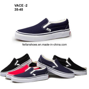 Low Price Men Rubber Canvas Shoes Injection Casual Shoes (VACE02) pictures & photos