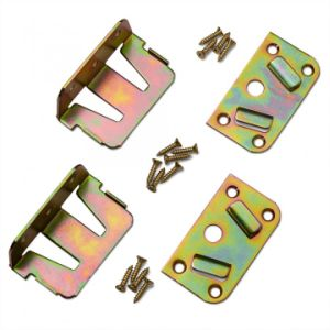 High Band Brass Plated Steel Bed Rail No-Mortise Fasteners pictures & photos