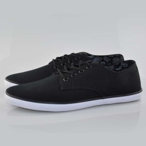 Low Top Black Casual Dress Canvas Sneakers Shoes for Men/Male pictures & photos