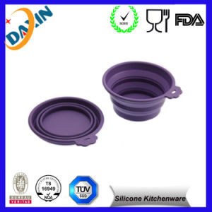 FDA Silicone 3-in-One Portable Tasteless Folding Bowl pictures & photos