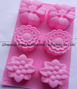 Holiday Promotional 6 Flowers Silicone Baking Tool Silicone Bakeware Sc19 pictures & photos