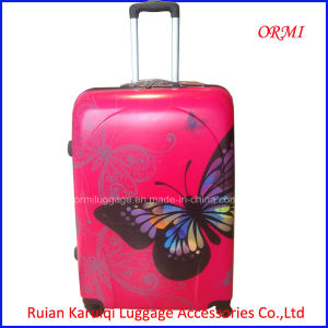 ABS Luggage Butterfly Printing Trolley Bag Easy Trip pictures & photos