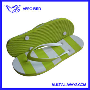 Simple Style Girls EVA Slippers Sandal with Stripe Print