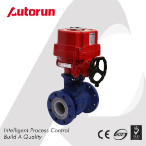 Fluorine Lined Ball Valve with Electric Actuator pictures & photos