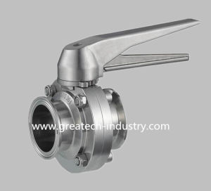 Stainless Steel Ss304 and Ss316L Ss Gripper Handle Clamp Sanitary Butterfly Valve