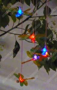 Solar Wind Chime Light with Color Changing LED Dragonfly pictures & photos