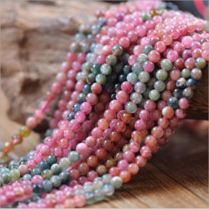New Arrival Natural Gemstone Loose Strand 3.5mm Natural Red Tourmaline pictures & photos