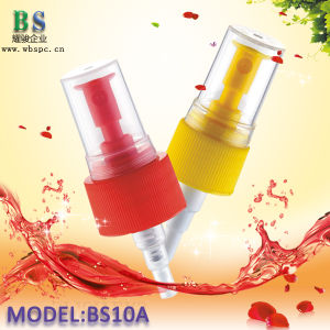Yellow Fine Mist Sprayer with Plate Cap for Perfume Bottle pictures & photos