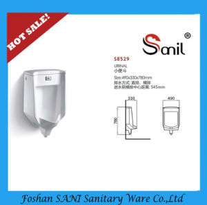 Good Quality Bathroom Ceramic Wall Hung Sensor Urinal (S8529) pictures & photos