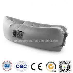 Grey Color Wind Pouch Inflatable Hammock Lazy Bag