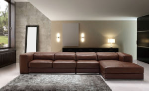 Modern Commercial Living Room Furniture Corner Leather Sofa (HC3007) pictures & photos