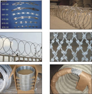 Bto-22 Flat Wrapped Concertina Razor Tape Wire pictures & photos
