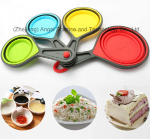 Food Grade Silicone Measuring Cup and Spoon Set Sk10 pictures & photos