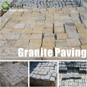 Yellow/Light Grey/Dark Grey/Black Granite Cube Paving Stone for Garden and Patio pictures & photos