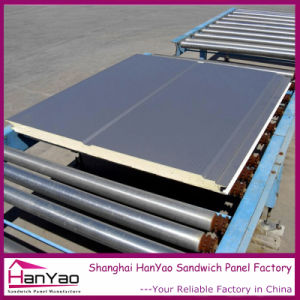 50mm Color Steel Polyurethane PU Sandwich Panel for Wall pictures & photos