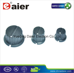 White DOT Set Screw Type Plastic Skirted Control Potentiometer Knobs pictures & photos
