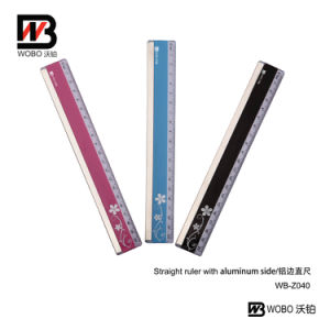 Color Plastic Ruler with Aluminum Side 2016 for Office Stationery