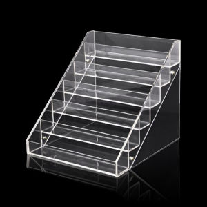 6 Steps Clear Acrylic Display Stands, Plexiglass Display Shelf pictures & photos