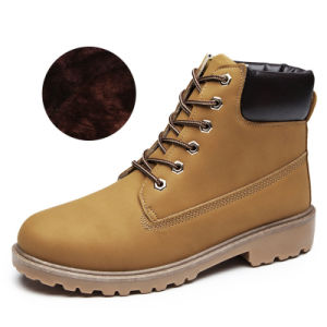 Martin Boots Female Lovers Plus Cotton Big Head Shoes Men Thickening Warm Army Boots Unisex Men and Women Boots pictures & photos