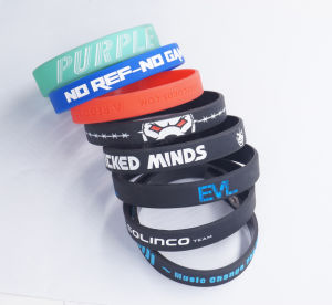 Hot Sale Factory Custom Colorful Silicone Wristband for Promotion Items pictures & photos
