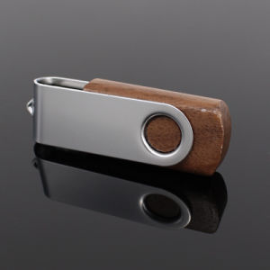 New Swivel Bamboo Wooden USB Flash Drive pictures & photos