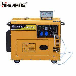 Air-Cooled Silent Type Diesel Generator Set (DG5500SE+ATS) pictures & photos