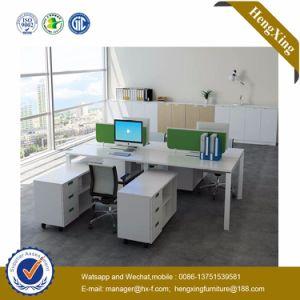 Wooden 4 Seats L Shape Office Desk Workstation (HX-NJ5002) pictures & photos