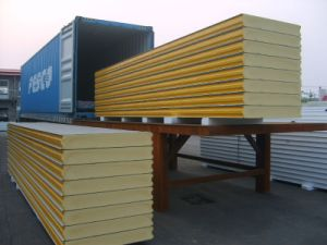 Blue PU Sandwich Panel for Roof for Building Materials pictures & photos
