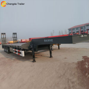 Lowbed Trailer, Tri Axle Lowboy Semi Trailer pictures & photos