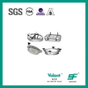 Sanitary Stainless Stee Oval Inward Manway pictures & photos