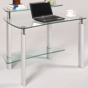Tempered Glass Computer Desk with En12150 pictures & photos