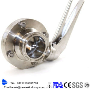 Sanitary Triclamp Butterfly Valve Electric Actuated Stainless 304 316L pictures & photos