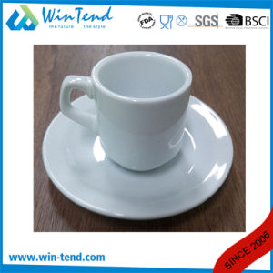 Wholesale Commercial White Porcelain Espresso Coffee Cup and Saucer pictures & photos
